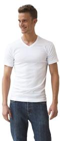 Athena 2x T-Shirts Col V Coton Bio (lot de deux)