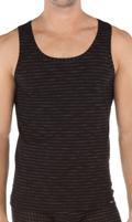 Calida Athletic-Shirt Pure Striped Fashion