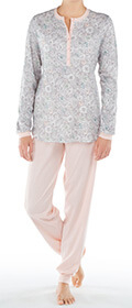 Calida Pyjama mit Bündchen Elba