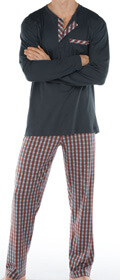 Calida Pyjama Serengeti mit Knopfleiste
