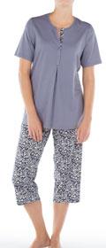 Calida Pyjama 3/4 mit Knopfleiste Lyon