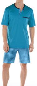 Calida Pyjama Kurz mit Knopfleiste Mahé