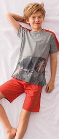 Calida Pyjama Kurz Sunny Beach Boy