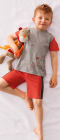 Calida Pyjama Kurz Small Beach Boy