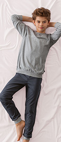 Calida Pyjama mit Bündchen Strong Worker