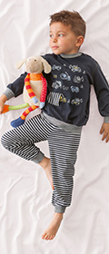 Calida Pyjama mit Bündchen Little Worker