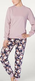 Calida Pyjama mit Bündchen Sally