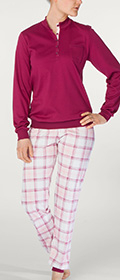 Calida Pyjama mit Bündchen Naomi