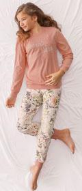Calida Pyjama mit Bündchen Lacy Lady