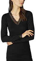 Mey Top langer Arm Silk Touch Wool