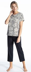Calida Pyjama 7/8 Cosy Cotton Fair