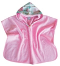 framsohn Kinderponcho mit Kapuze Honey Bear/ Pink Forest