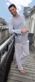 Eminence Pyjama Long Col Rond Rive Gauche