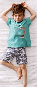 Calida Pyjama kurz Adventure Teddy