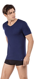 Skiny V-Shirt kurzarm Modern Modal