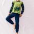 Calida Pyjama mit Bündchen Street Cruiser