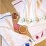 framsohn Waffelpiqueküchentuch Geschirr mit weißem Hintergrund