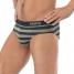Skiny Brasil Slip Cotton Deluxe Stripe